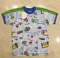 Хлопковая футболка для мальчика размер 110,116