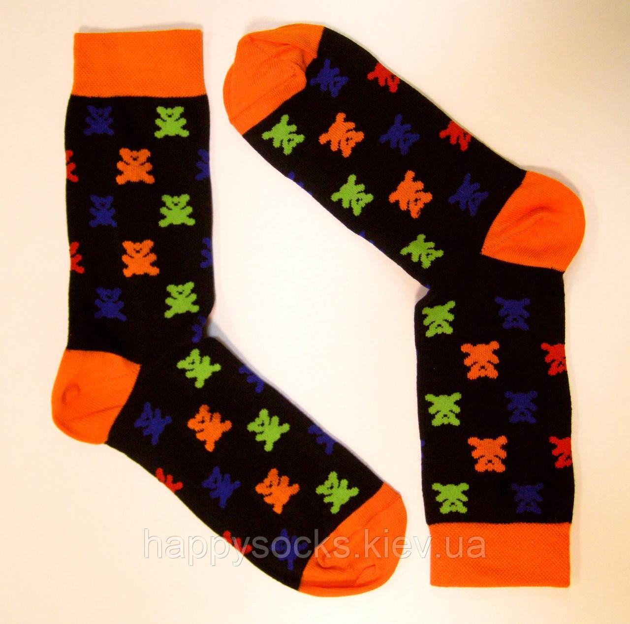 Модные цветные мужские носки с рисунком