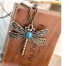 Ожерелье, подвеска Бирюзовая стрекоза