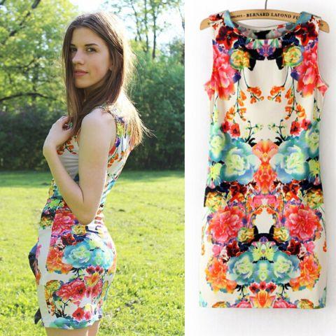 Платье летнее цветное