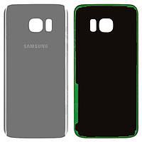 Samsung G935F Galaxy S7 EDGE задняя крышка (корпус) серебристая 1cfefc084411c