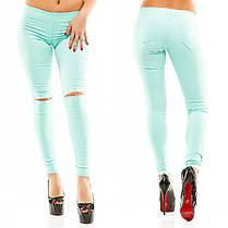 Брюки джинс колено разрез 36268, фото 2