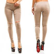 Брюки джинс колено разрез 36268, фото 3