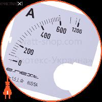 Enext Шкала до амперметра щитового e.meter72.a600.scale АС 600А 72х72мм