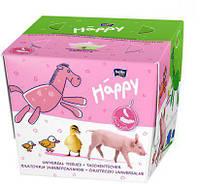 Салфетки Bella happy 40+40шт/уп зеленые/розовые