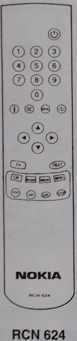 Пульт от телевизора NOKIA. RCN 620/622/624