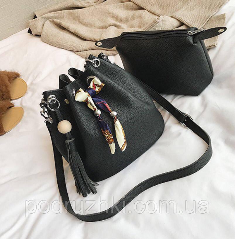 58926f5a5d7a Женская шикарная сумка-мешок (4 цвета) - Интернет-магазин