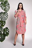 Платье-рубашка Моника 0311_3 Красное