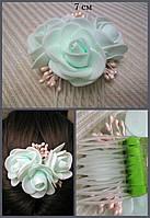Заколка-гребешок для волос из фоамирана, украшение для волос ручной работы, 7 см.