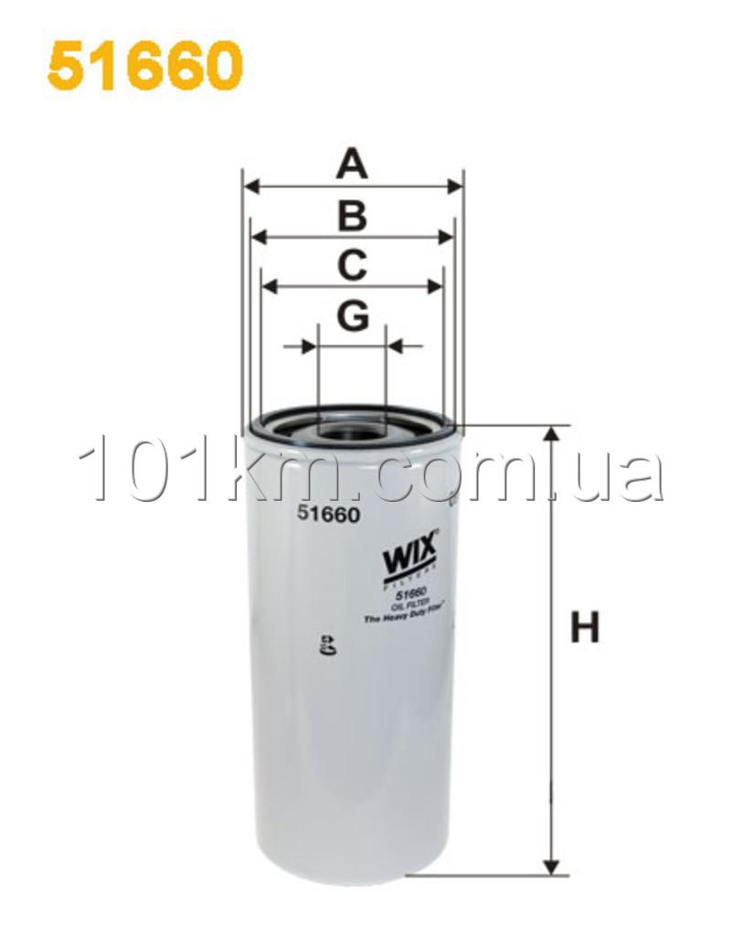 Фильтр масляный WIX 51660E (OP 631)