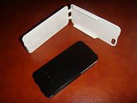 Кожаный чехол 5 iphone белый цвет, книжка