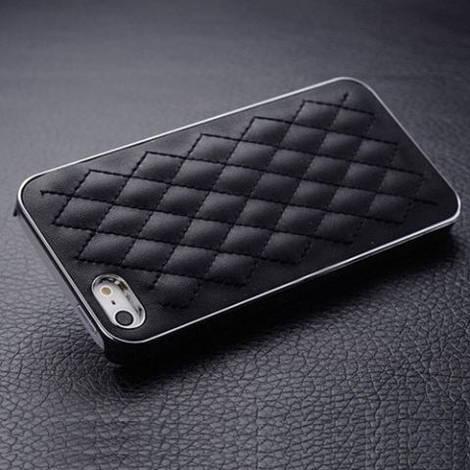 Кожаный чехол для iPhone 5/ 5S черный цвет