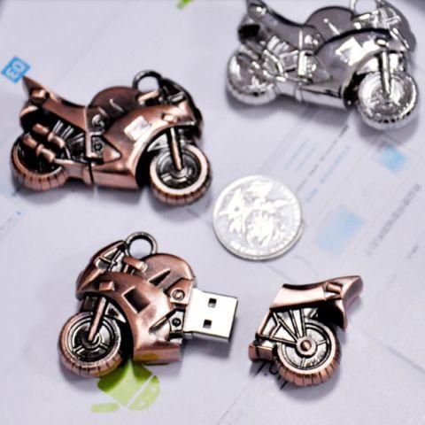 Usb флешка Мотоцикл бронзового цвета