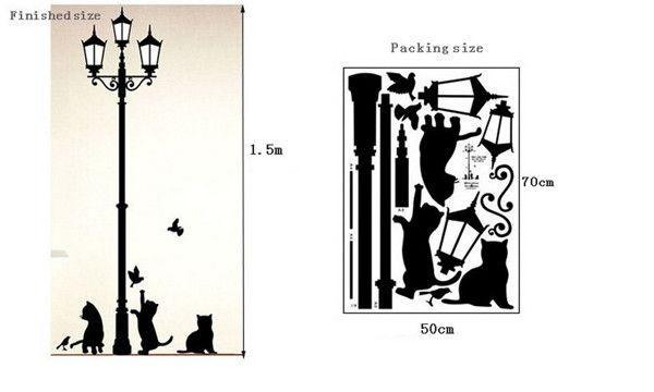 Наклейки виниловые для декора стен коты