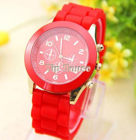 Наручные часы Geneva красный цвет