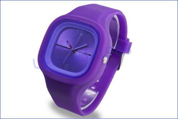 Наручные часы унисекс цвет фиолетовый