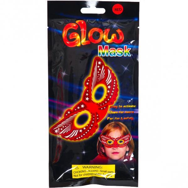 """Светящиеся неоновая маска """" Красная бабочка микс"""""""