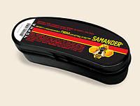 Губка для обуви (овал) Samander, для кожи, замши, нубука, полимерных и лакированных материалов. черная
