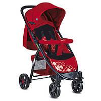 Детская прогулочная коляска M 3409-3-2, красно-черная