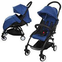 Детская прогулочная коляска M 3548-4 YOGA, синий