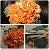 Заколка для волос из фоамирана, украшение для волос ручной работы, 7 см.
