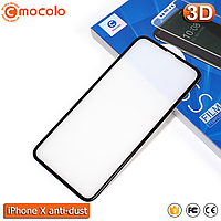 Защитное стекло Mocolo iPhone X Anti-Dust (Black) 3D