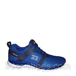Мужские кроссовки на шнурках сетка