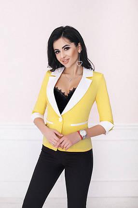 """Стильный женский пиджак """"Spruch"""" с контрастными вставками (2 цвета), фото 2"""