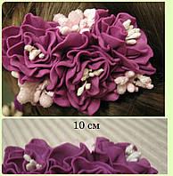Заколка для волос из фоамирана, украшение для волос ручной работы, 10 см.