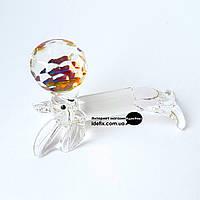 Морской котик с мячом хрустальный 6х4х4см (18195)