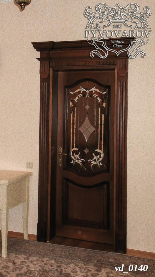 Витраж в стиле барок в межкомнатные двери