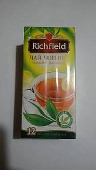 """Чай черный и зеленый  """"Richfield"""" 25 пакетиков микс"""