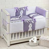 Комплект постельного белья Asik Кролик с плюшем Minky 6 предметов (6-260)