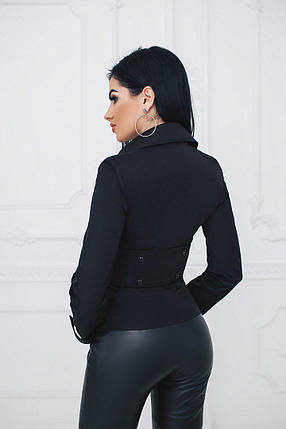 """Короткий двубортный женский пиджак """"TIO"""" с длинным рукавом, фото 2"""