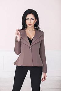 """Удлинённый женский пиджак """"Lauren"""" с фалдами и длинным рукавом (3 цвета)"""