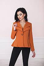 """Удлинённый женский пиджак """"Lauren"""" с фалдами и длинным рукавом (3 цвета), фото 2"""