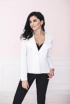 """Удлинённый женский пиджак """"Lauren"""" с фалдами и длинным рукавом (3 цвета), фото 3"""