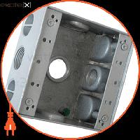 """Enext Коробка монтажна металева без кришки e.industrial.pipe.db.thread.3.3/4"""" з 3 різьбовими вводами 3/4"""""""