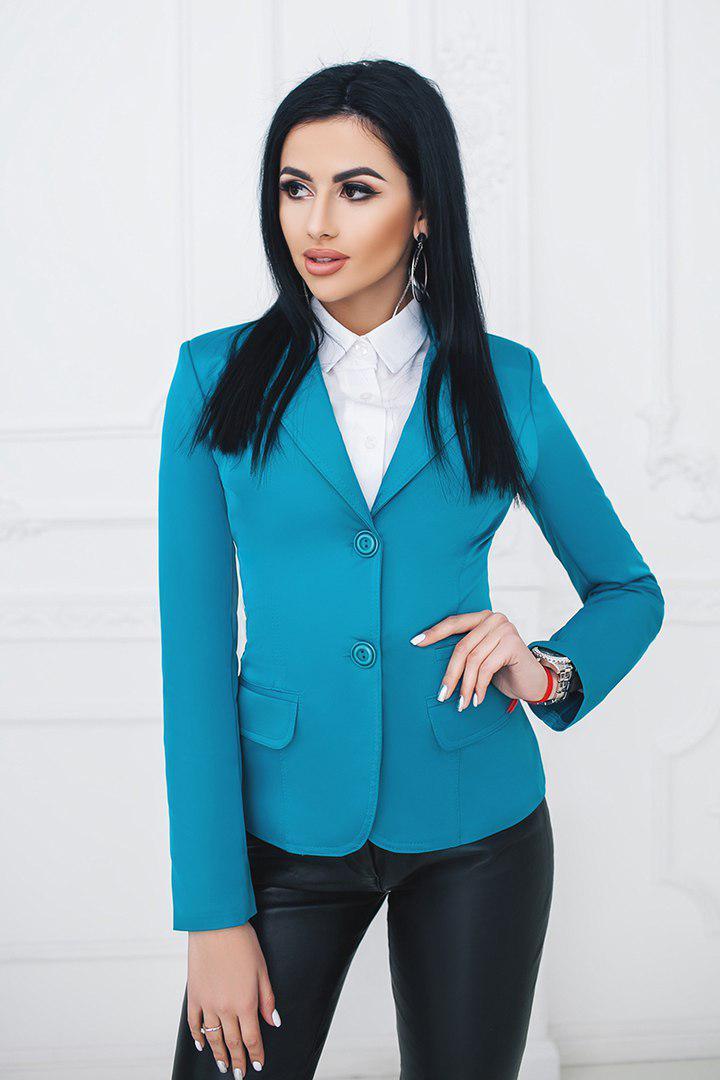 """Удлинённый женский пиджак """"Elaine"""" с длинным рукавом (10 цветов)"""