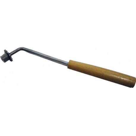 Каток комбинированный со шпорой с деревянной ручкой