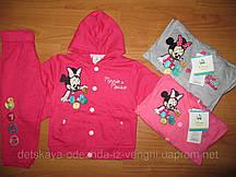 Трикотажный костюм для девочек Disney оптом ,62/68-86 рр {есть:62/68}