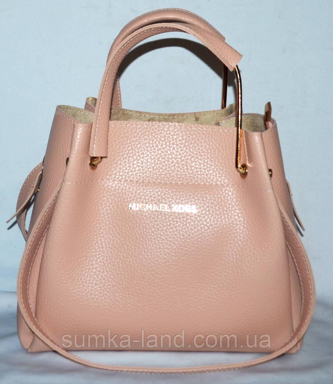 66cfa2e6859f Женская пудровая сумка Michael Kors 2 в 1 (сумка и клатч) 28 26 ...