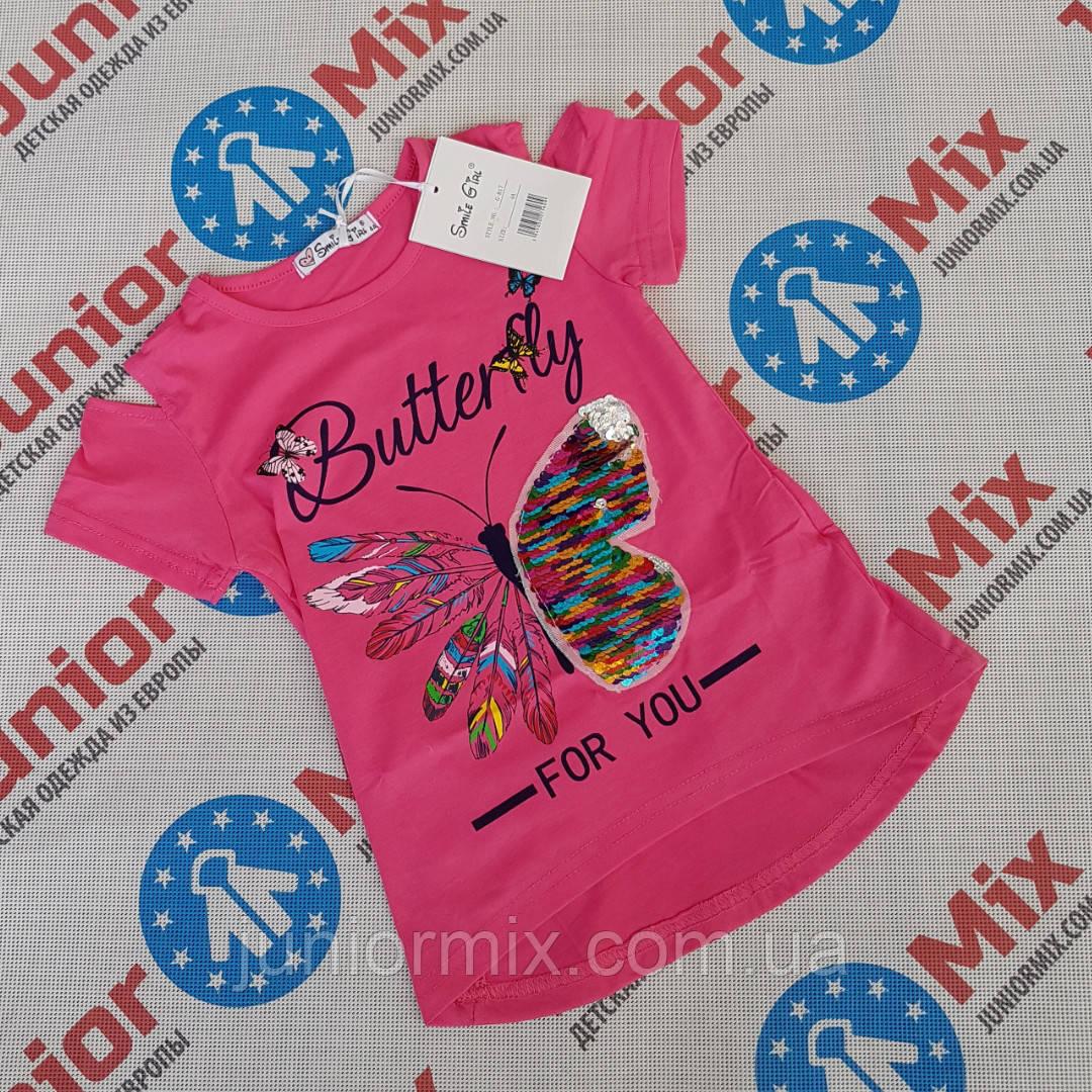 Дитячі літні футболки для дівчаток оптом ІТАЛІЯ
