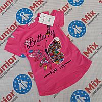 Детские летние футболки для девочек оптом ИТАЛИЯ, фото 1