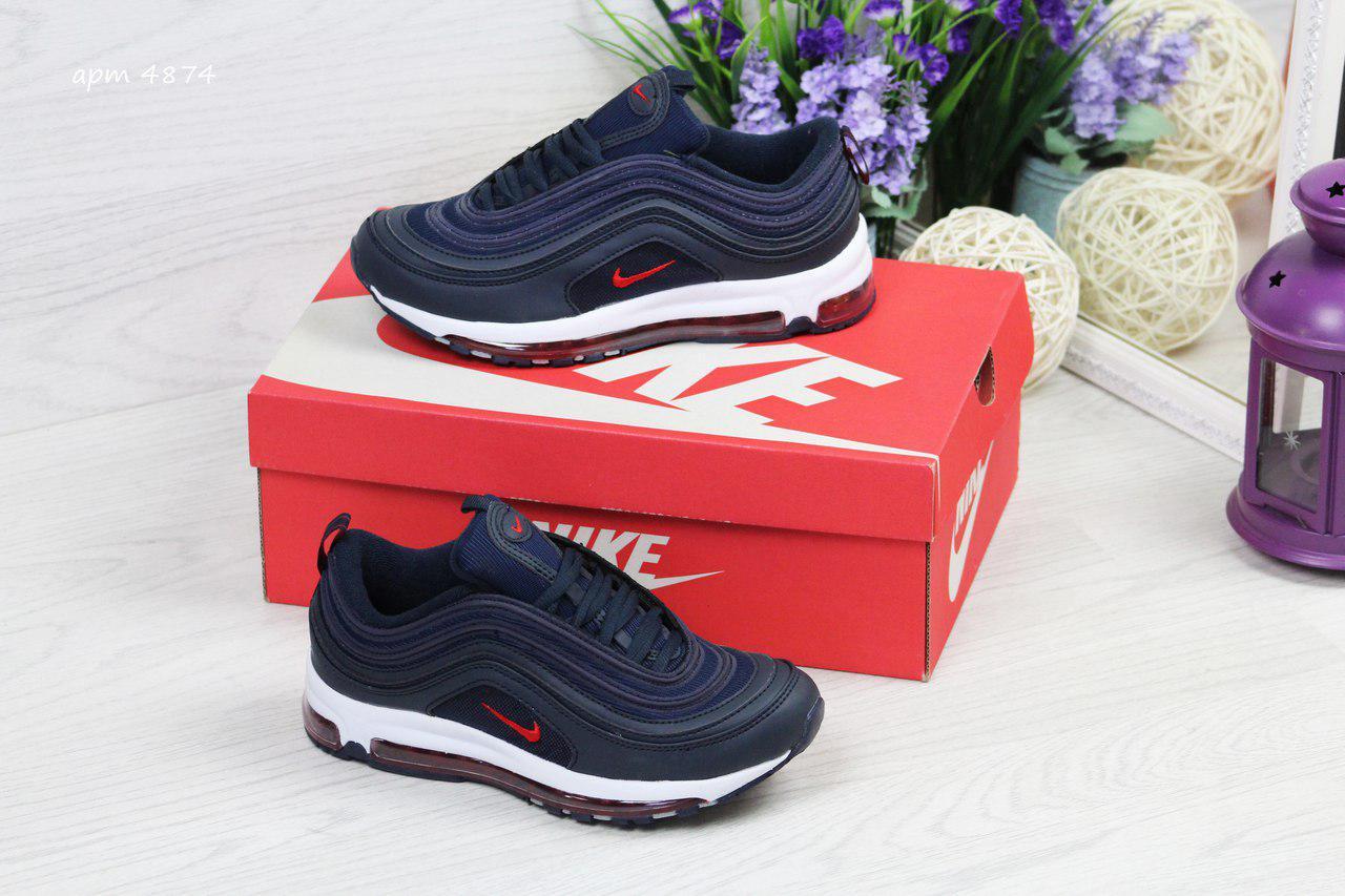 Модные подростковые кроссовки Nike Air Max 87,темно синие