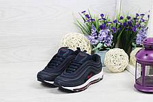Модные подростковые кроссовки Nike Air Max 87,темно синие, фото 2