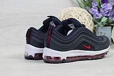 Модные подростковые кроссовки Nike Air Max 87,темно синие, фото 3