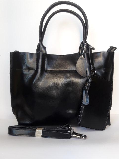 Кожаная женская сумка + кошелек Galanty