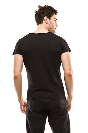 Футболка мужская 397 черная, фото 2