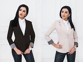 """Стильный женский пиджак """"Town"""" с отворотами на рукавах (13 цветов), фото 3"""